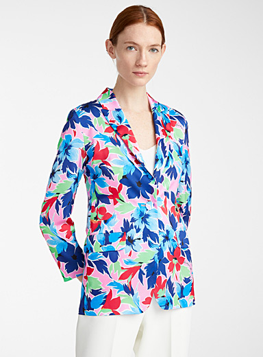 BOUTIQUE Moschino Assorted Tropical flowers jacket for women