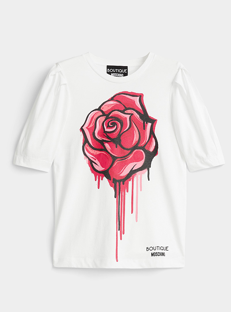 Le t-shirt rose graffiti