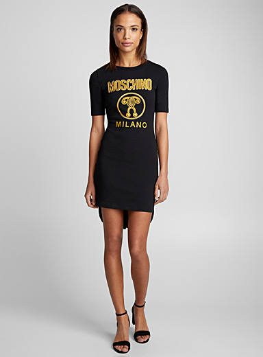 Coattail T-shirt dress