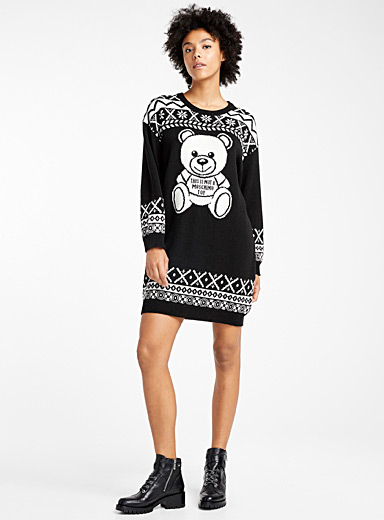 Fair Isle Teddy Bear sweater dress