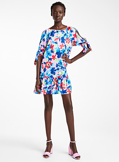 BOUTIQUE Moschino Assorted Tropical floral dress for women