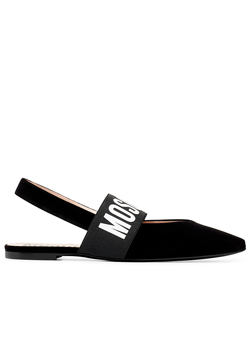 Moschino Black Strap ballet flats for women