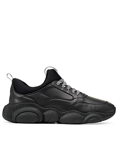 Teddy black leather sneakers