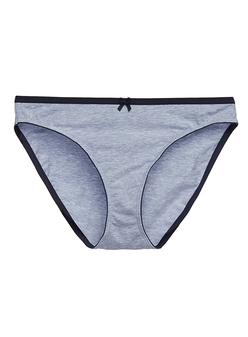 Stretch cotton bikini panty - 5 for $27.95 - Dark Blue