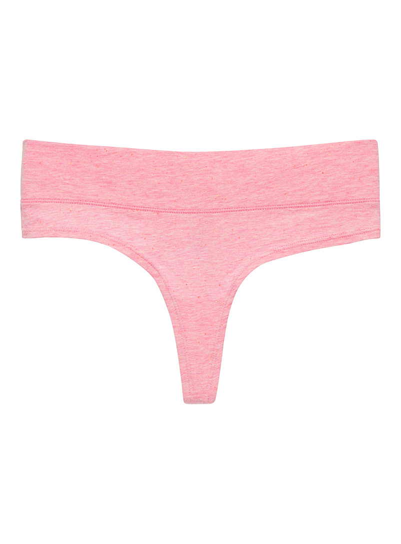 Stretch cotton thong - 5 for $27.50 - Dusky Pink