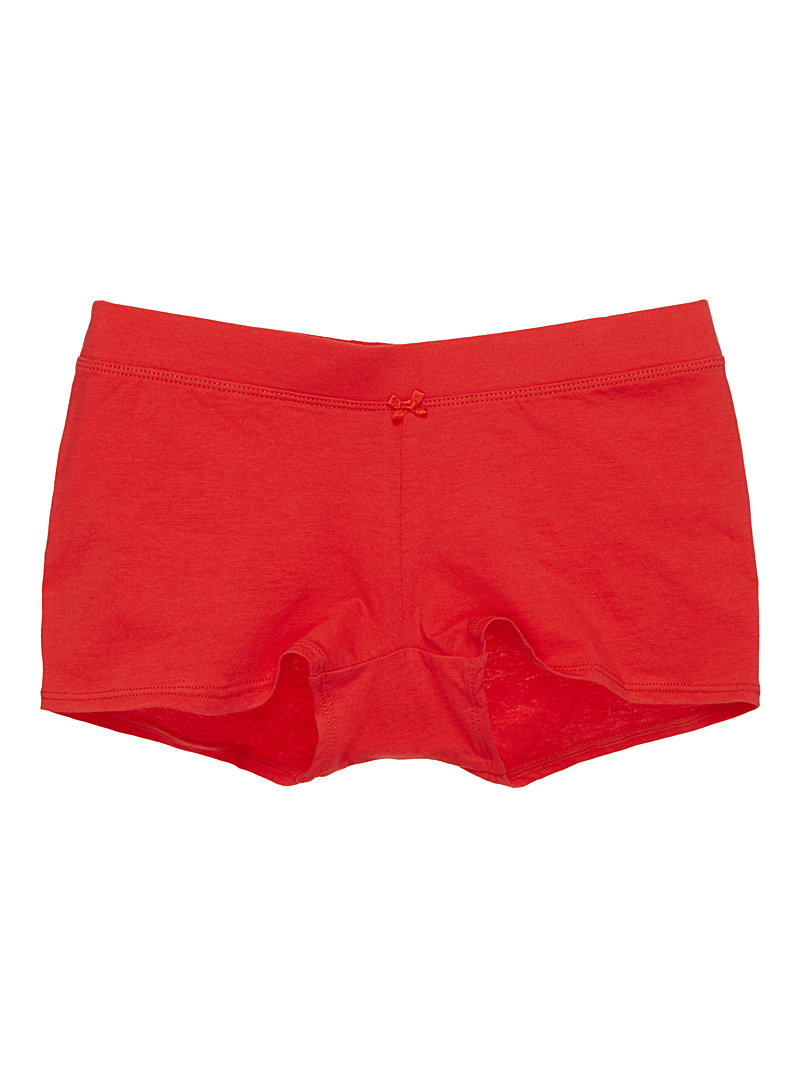 Stretch cotton hipster - 5 for $27.50 - Red
