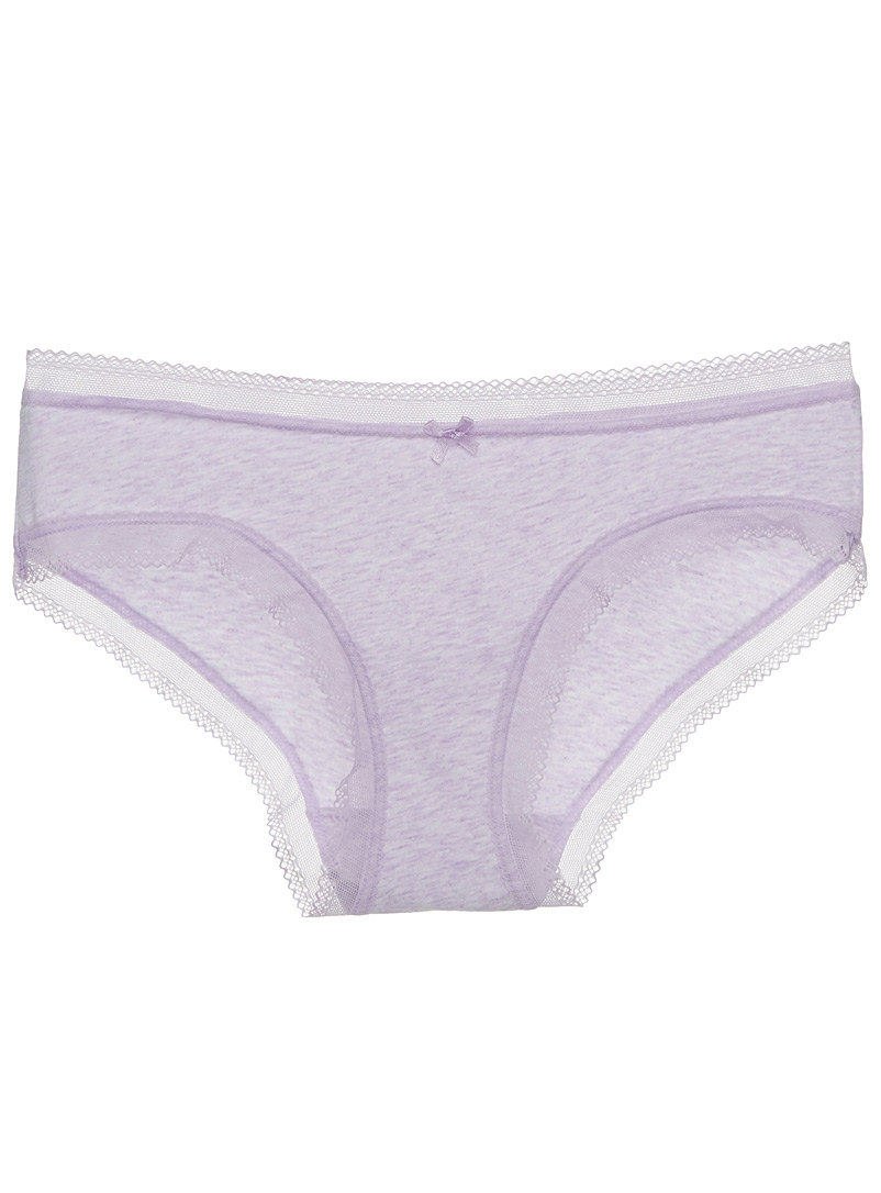 Fine lace-trim colourful hipster - Buy More, Save More - Lilacs