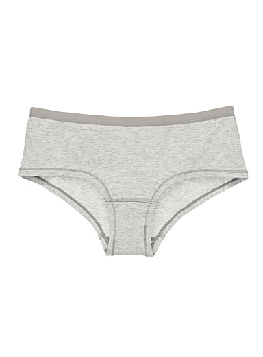 Miiyu Grey Striped boyshort for women