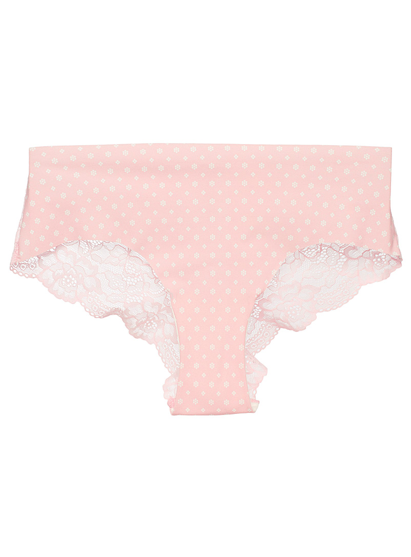 Laser-cut lace Brazilian panty - Buy More, Save More - Peach