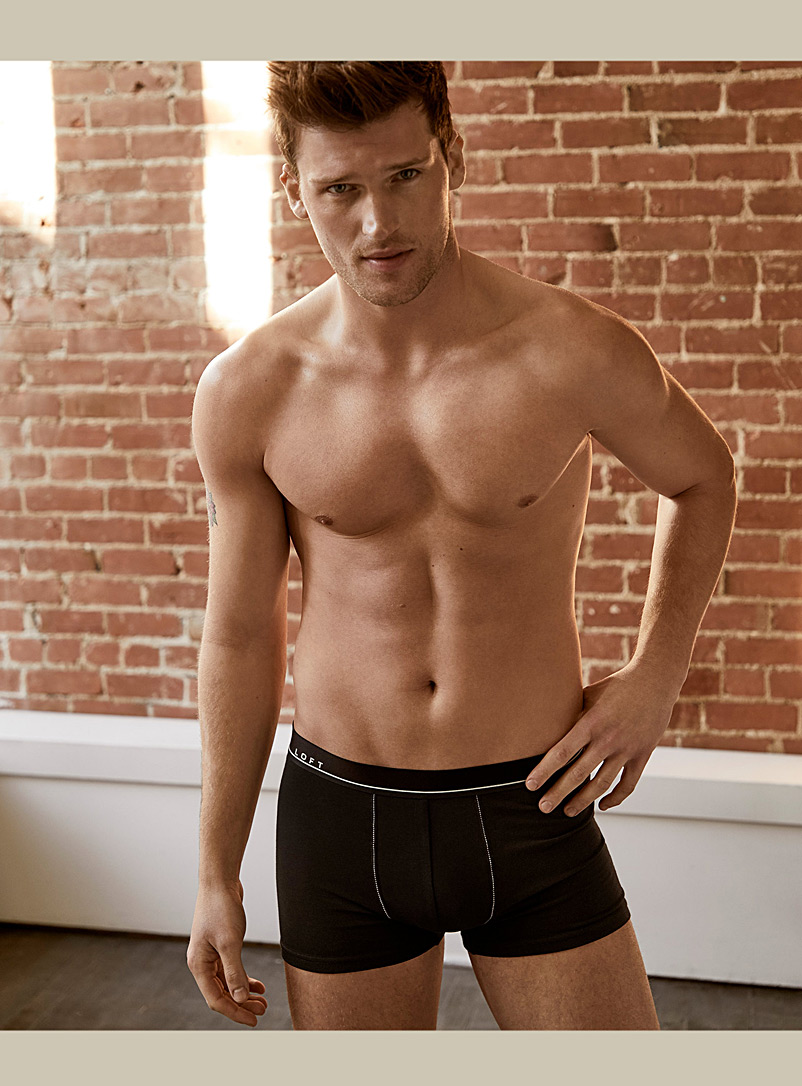 Le 31 Black TENCEL* Modal loft trunk for men