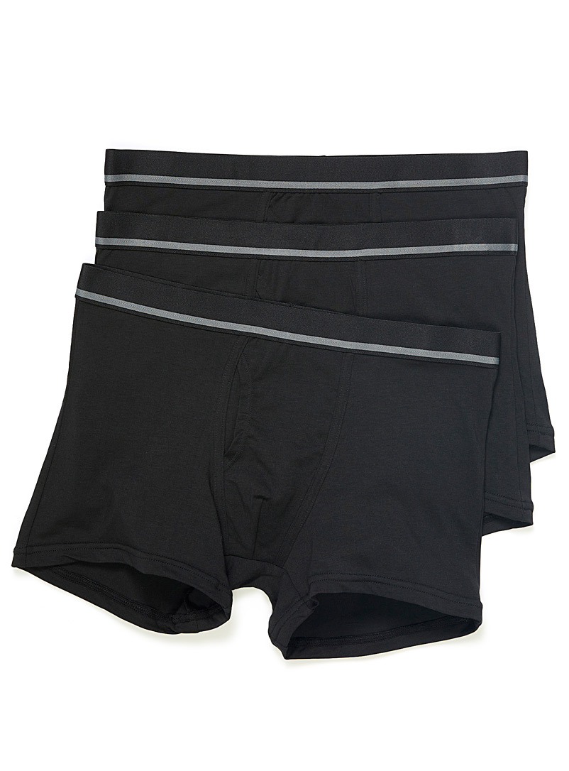Le 31 Black Ultra soft organic cotton and modal boxer brief  3-pack for men