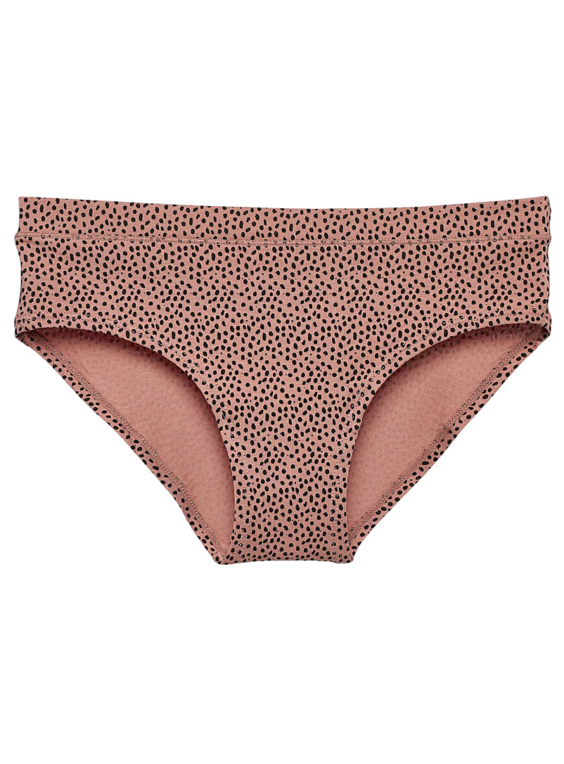 Miiyu Brown Organic cotton and modal colourful hipster for women