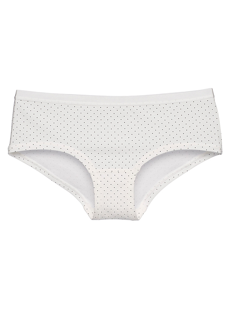 Organic cotton and modal patterned boyshort