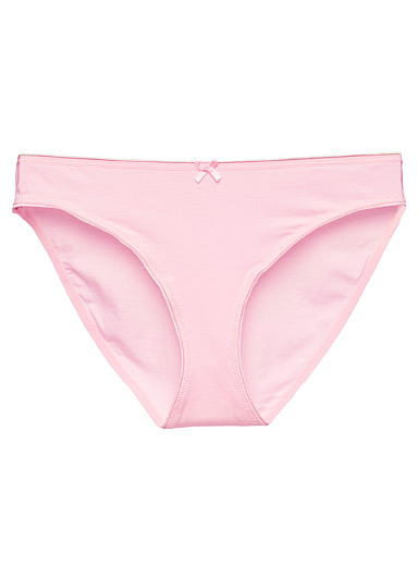 Miiyu Dusky Pink Organic cotton and modal colourful bikini panty for women