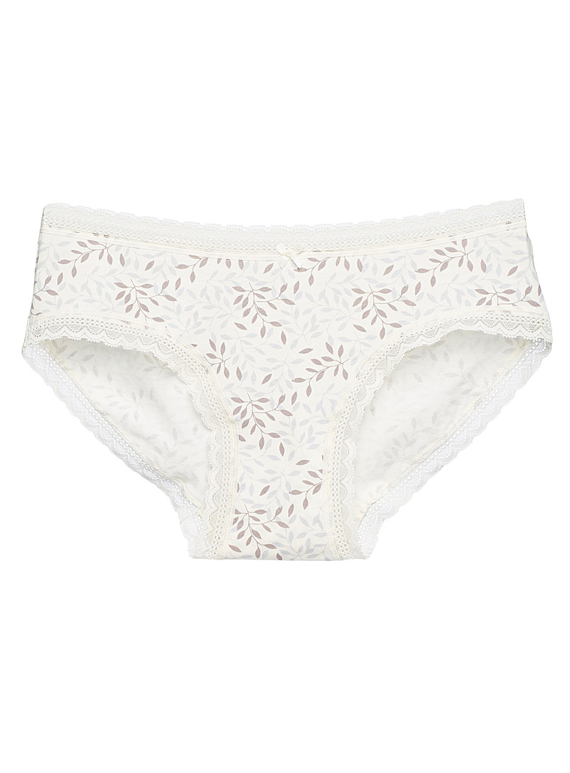 Organic cotton lace patterned hipster