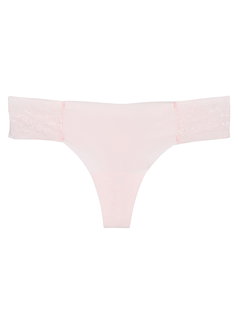 Colourful lace-accent thong - Buy More, Save More - Pink