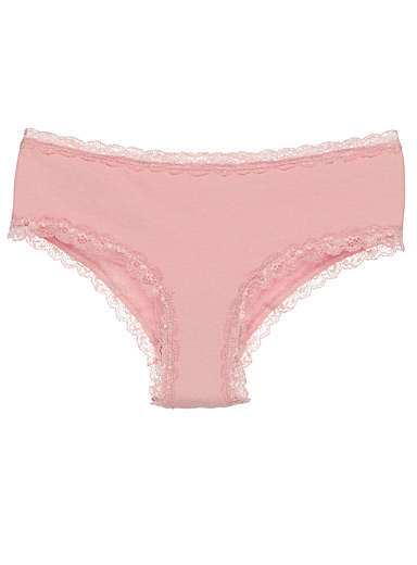 Lace trim Brazilian panty
