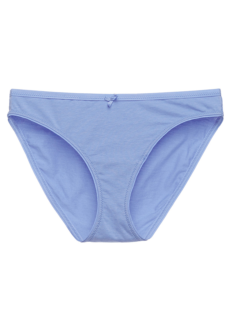 Printed cotton modal bikini panty - Buy More, Save More - Slate Blue