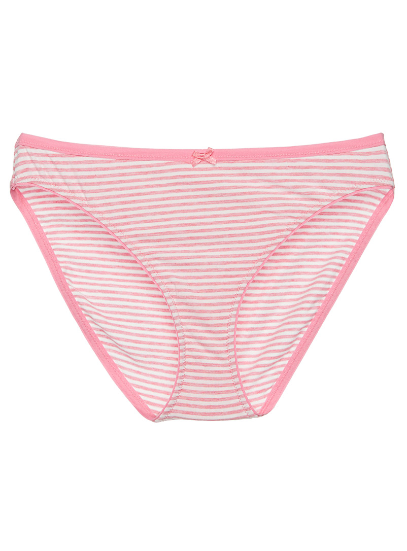 Printed cotton modal bikini panty - Buy More, Save More - Pink