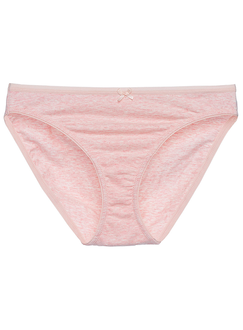 Miiyu Pink Cotton-modal bikini panty for women