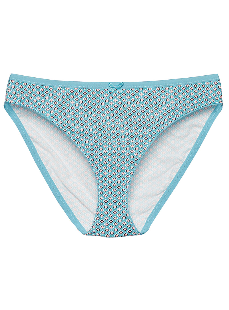 Miiyu Teal Soft organic cotton bikini panty for women