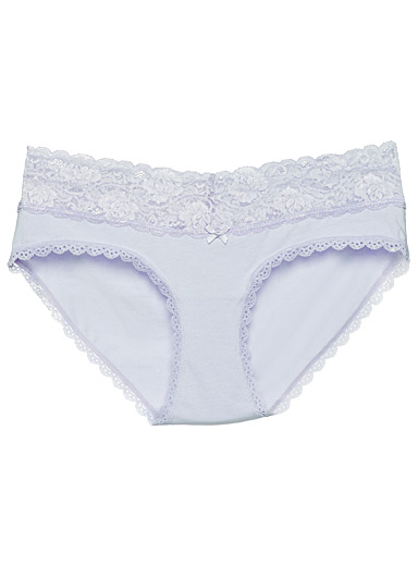 Organic cotton scalloped lace boyshort
