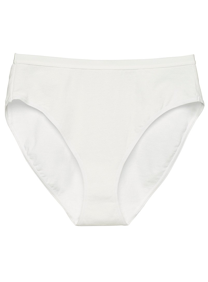 Organic cotton high-rise bikini panty