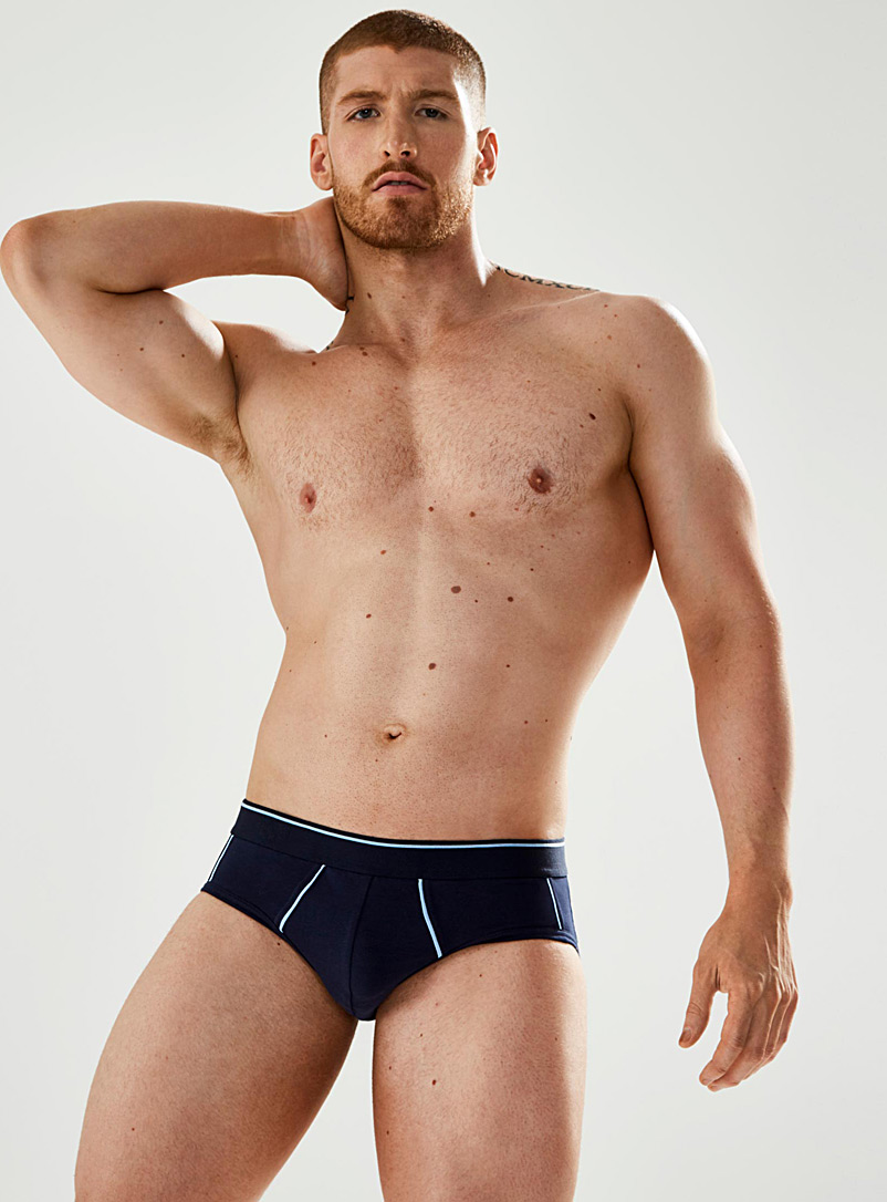 Accent seam brief  2-pack - Multi-Packs - Blue