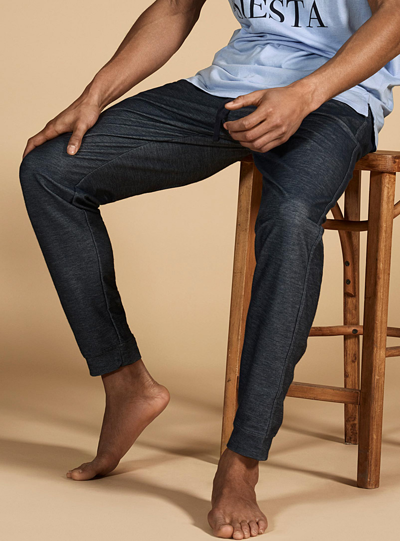 Faux-denim lounge joggers