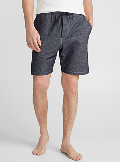 Faux-denim lounge Bermudas