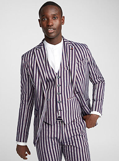 Admiral stripe jacket <br>Semi-slim fit