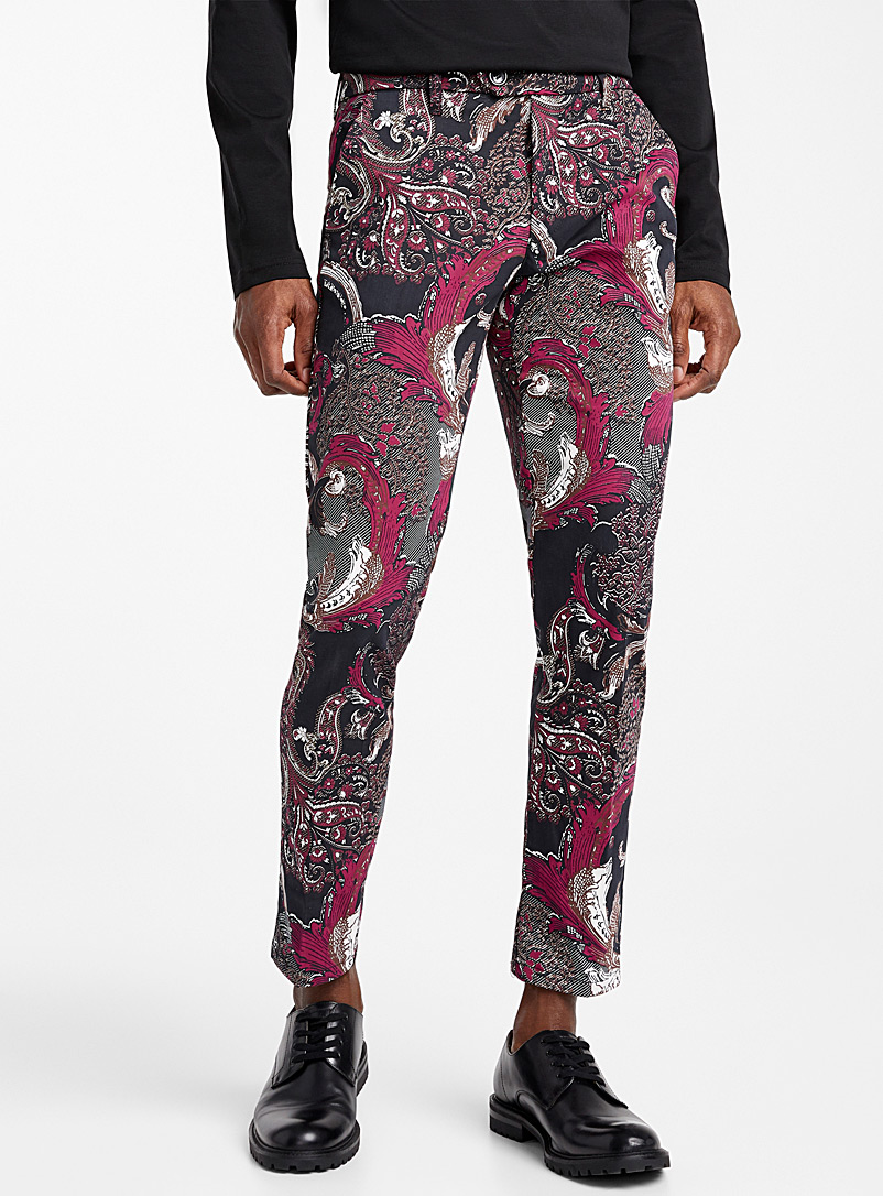 Baroque pant  Skinny fit - Tailored - Ruby Red
