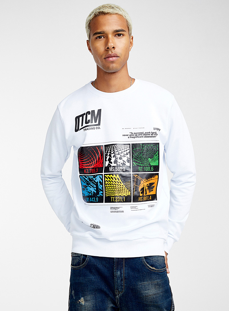 Work value sweatshirt - Prints - White