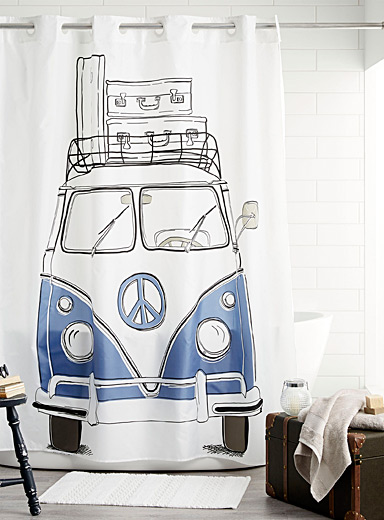 Camping car shower curtain