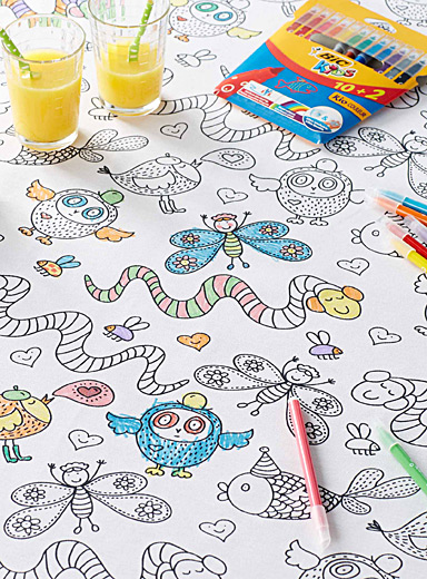 Funny animal colour-in tablecloth