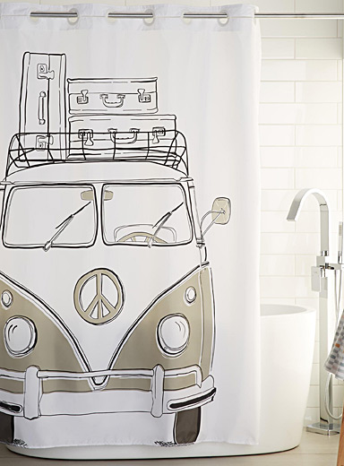 Camping car shower curtain | Simons Maison | Shop Fabric Shower ...