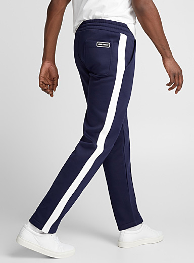 Vertical stripe track pant