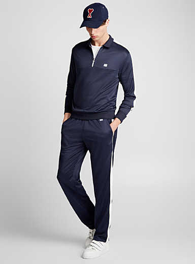 Contrast band jogger pant