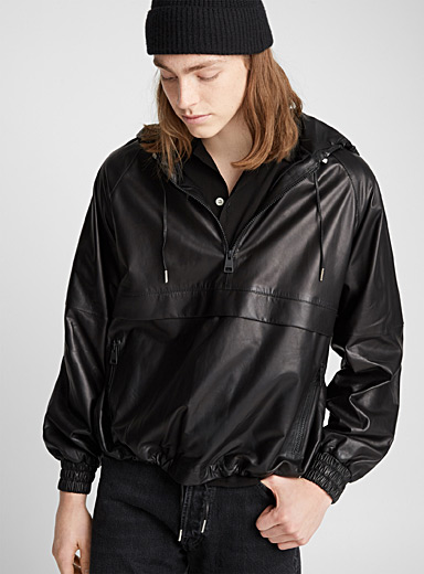 Leather anorak