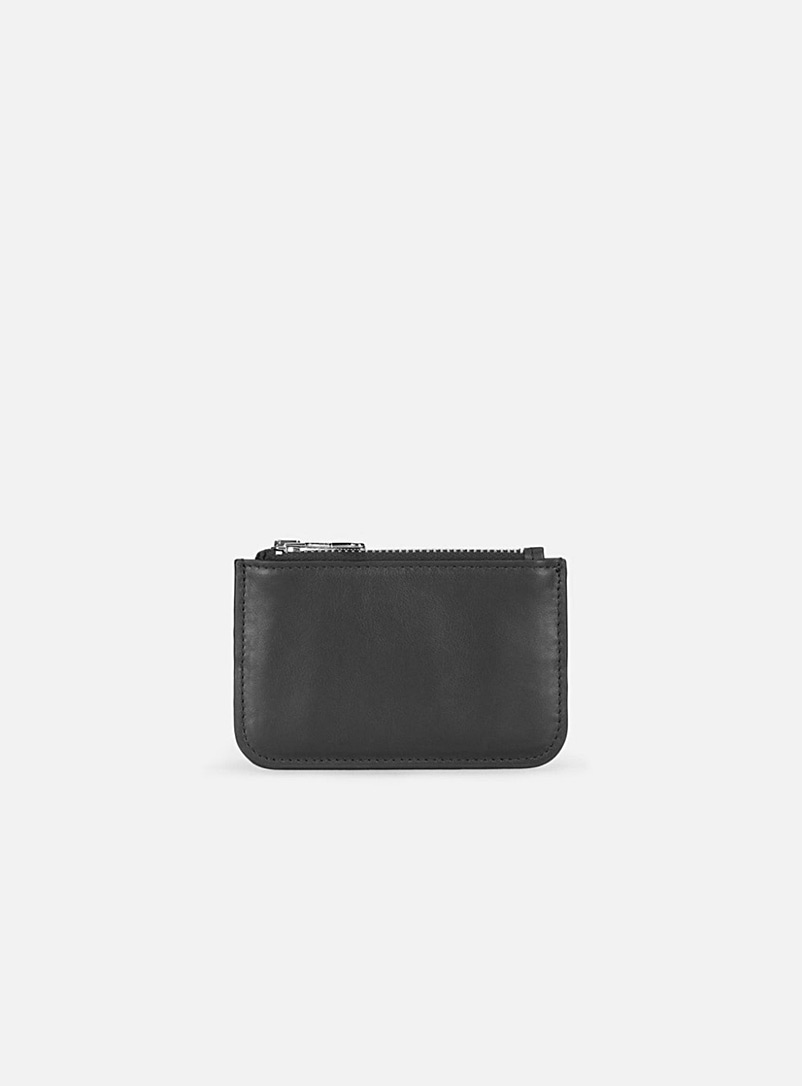 Ami Black Ami pull tab wallet for men