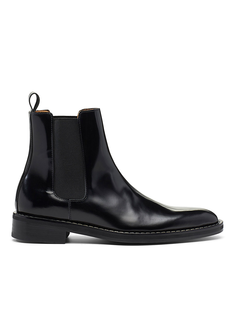 Ami Alexandre Mattiussi Black Chelsea boots for men