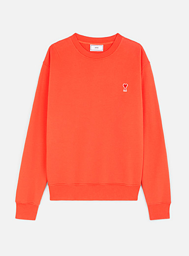 Ami Red Logo patch sweatshirt for men