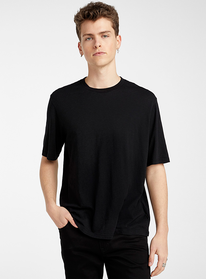 Ami Black Ami label tee for men