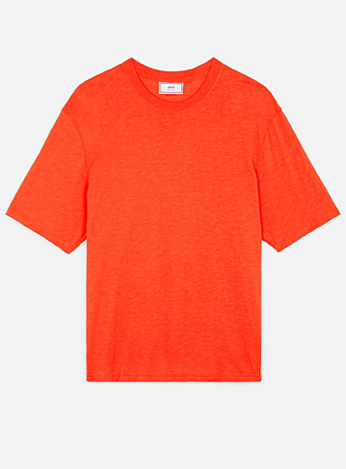 Ami Red Ami label tee for men