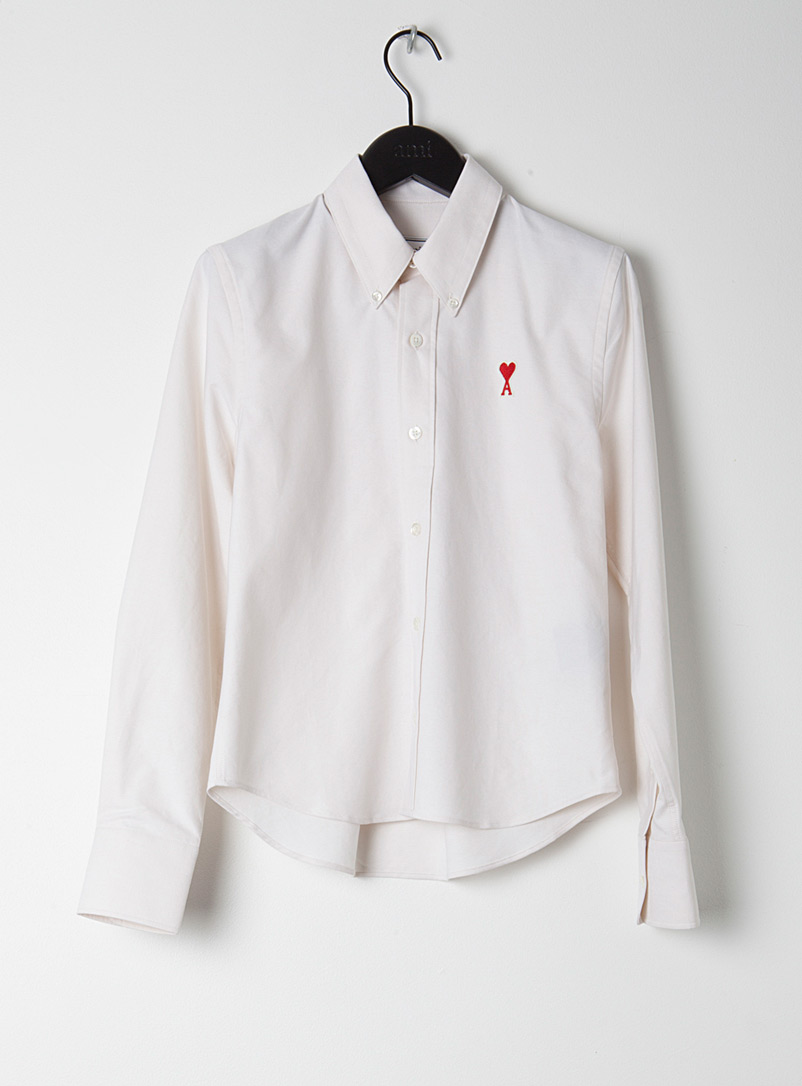 Ami Ivory White Ami de Coeur shirt for women