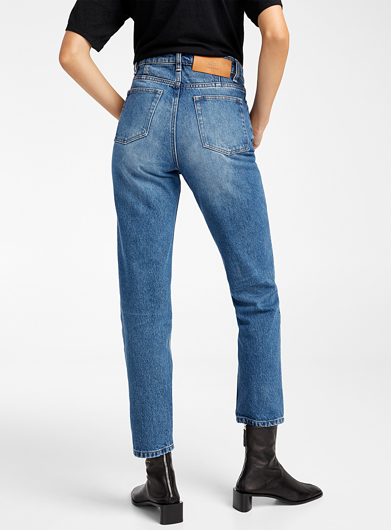 Ami Baby Blue Straight-fit jean for women