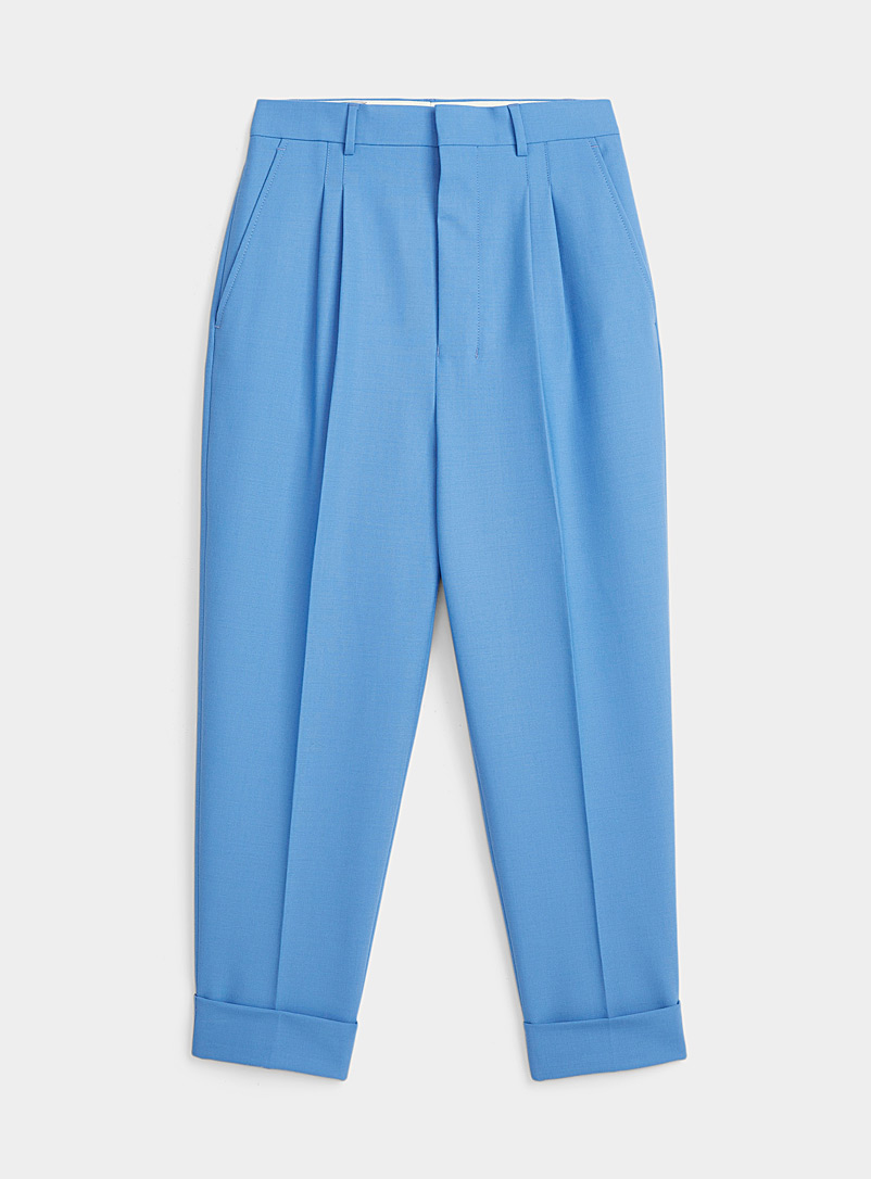 Ami Baby Blue Sky blue straight pant for women