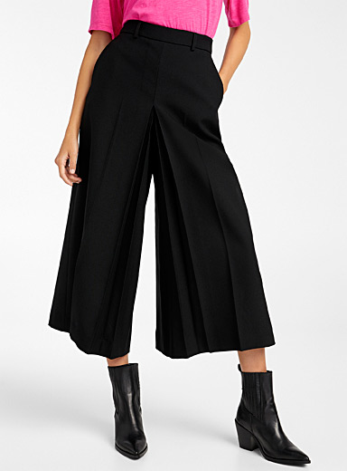 Ami Black Wool culottes for women