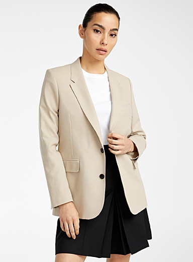Ami Cream Beige Clay blazer for women