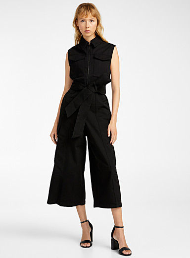 Ami Black Worker jumpsuit for women